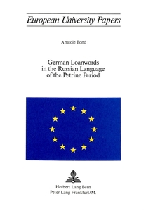 German Loanwords in the Russian Language of the Petrine Period | Dodax.at
