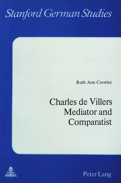 Charles De Villers- Mediator and Comparatist | Dodax.ch
