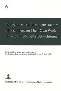 Philosophes critiques d'eux-mêmes- Philosophers on Their Own Work- Philosophische Selbstbetrachtungen | Dodax.ch