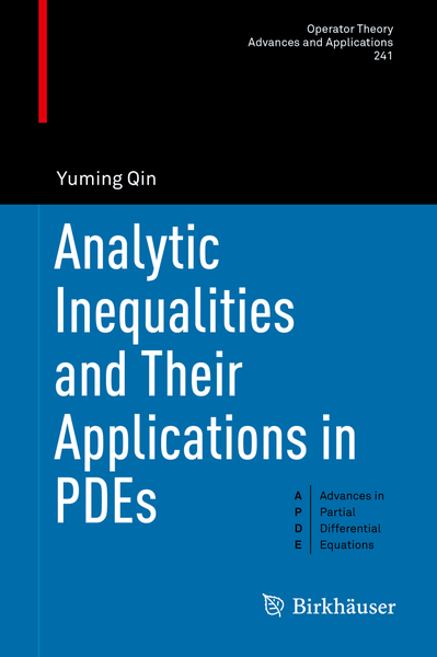 Analytic Inequalities and Their Applications in PDEs   Dodax.pl