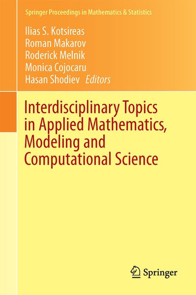 Interdisciplinary Topics in Applied Mathematics, Modeling and Computational Science | Dodax.ch