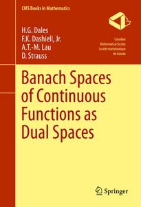 Banach Spaces of Continuous Functions as Dual Spaces | Dodax.ch