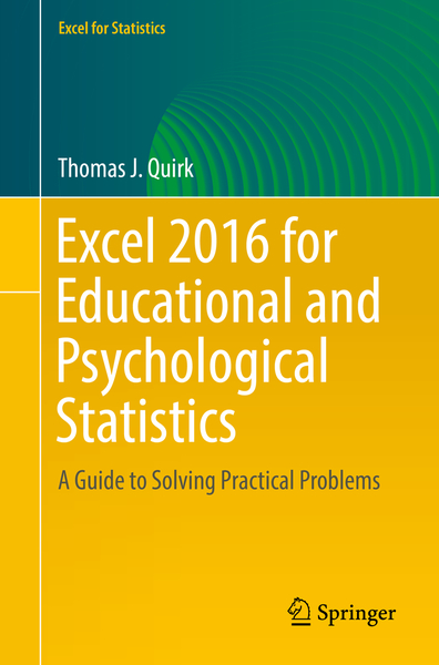 Excel 2016 for Educational and Psychological Statistics | Dodax.at