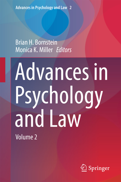 Advances in Psychology and Law | Dodax.nl