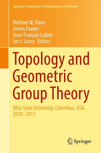 Topology and Geometric Group Theory | Dodax.ch