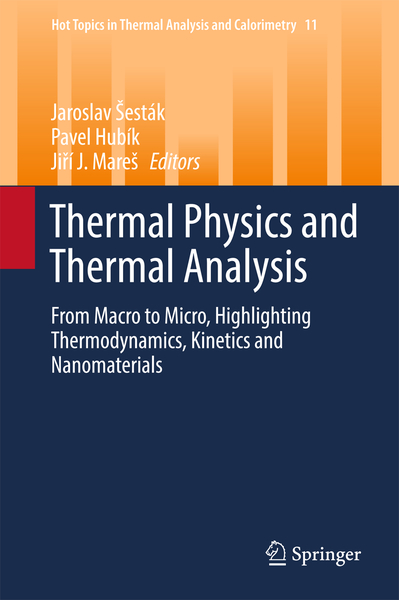 Thermal Physics and Thermal Analysis | Dodax.ch