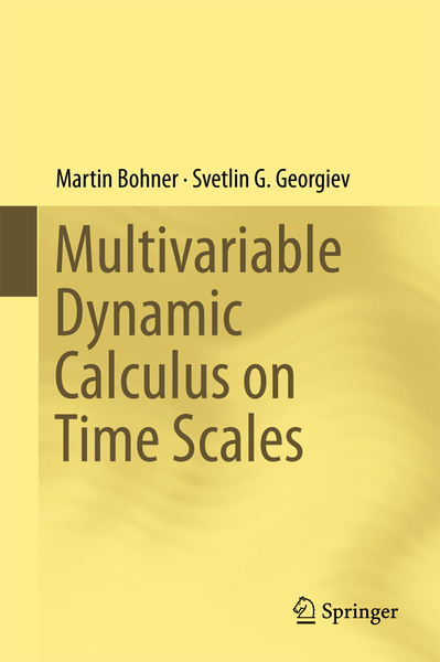Multivariable Dynamic Calculus on Time Scales | Dodax.de