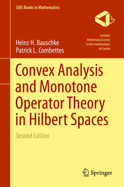 Convex Analysis and Monotone Operator Theory in Hilbert Spaces | Dodax.ch