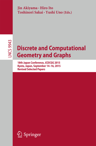 Discrete and Computational Geometry and Graphs   Dodax.ch