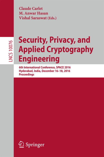 Security, Privacy, and Applied Cryptography Engineering | Dodax.ch