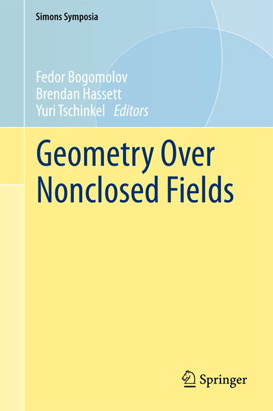 Geometry Over Nonclosed Fields | Dodax.ch