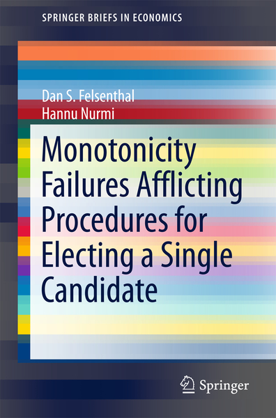 Monotonicity Failures Afflicting Procedures for Electing a Single Candidate | Dodax.ch
