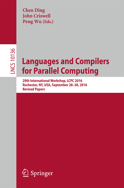 Languages and Compilers for Parallel Computing | Dodax.co.uk