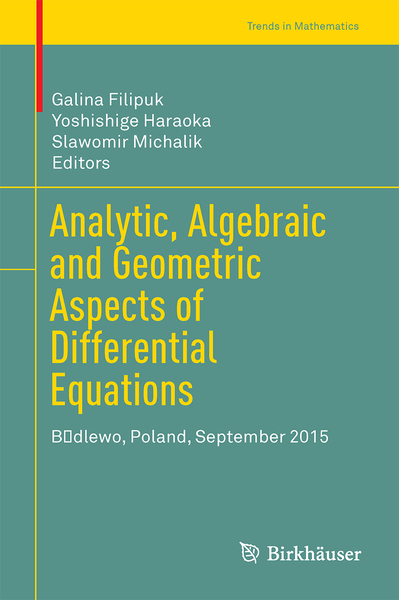 Analytic, Algebraic and Geometric Aspects of Differential Equations | Dodax.pl