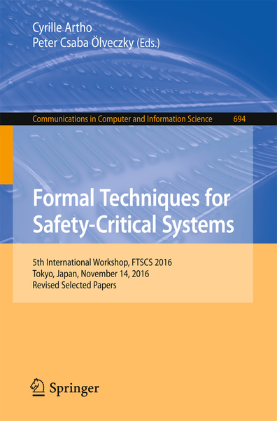 Formal Techniques for Safety-Critical Systems | Dodax.ch