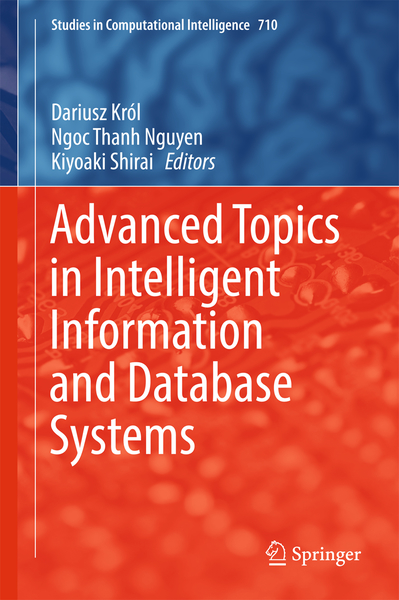 Advanced Topics in Intelligent Information and Database Systems   Dodax.ch