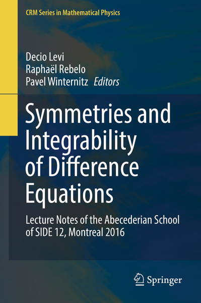 Symmetries and Integrability of Difference Equations | Dodax.nl