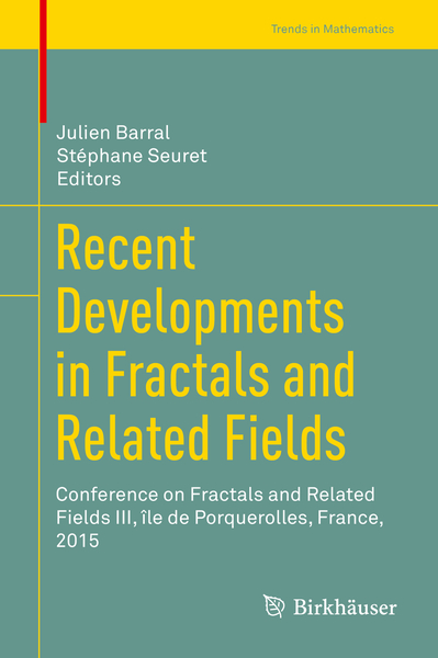 Recent Developments in Fractals and Related Fields | Dodax.pl