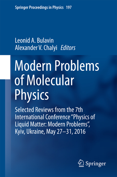 Modern Problems of Molecular Physics | Dodax.nl