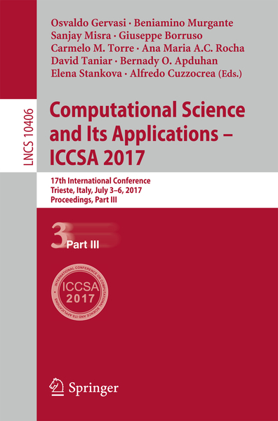 Computational Science and Its Applications - ICCSA 2017 | Dodax.ch