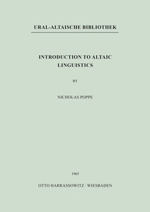 Introduction to Altaic Linguistics | Dodax.de