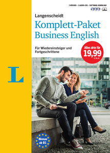 Langenscheidt Komplett-Paket Business English, 2 Bücher, 3 Audio-CDs und Software-Download | Dodax.at
