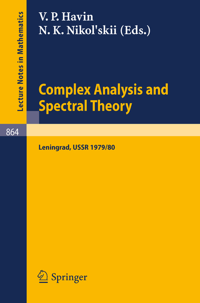 Complex Analysis and Spectral Theory | Dodax.nl