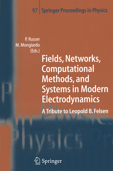 Fields, Networks, Computational Methods, and Systems in Modern Electrodynamics | Dodax.nl