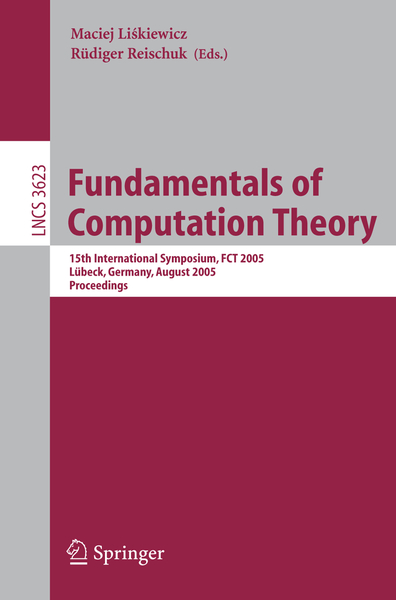 Fundamentals of Computation Theory | Dodax.ch