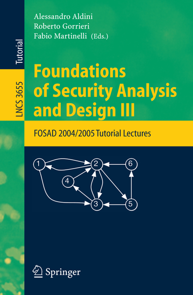Foundations of Security Analysis and Design III | Dodax.ch