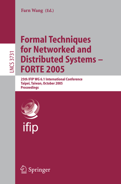 Formal Techniques for Networked and Distributed Systems - FORTE 2005 | Dodax.ch