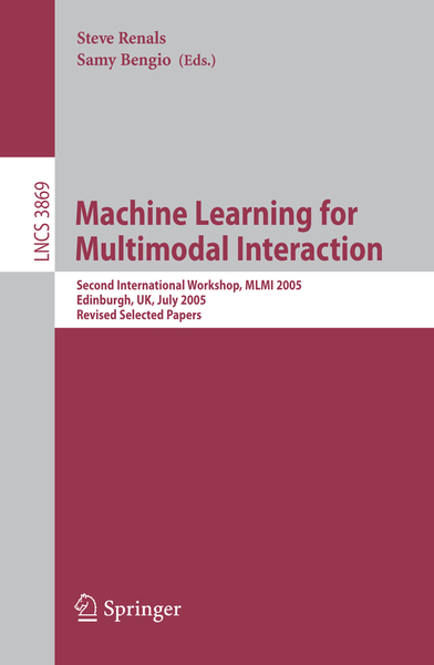 Machine Learning for Multimodal Interaction | Dodax.nl