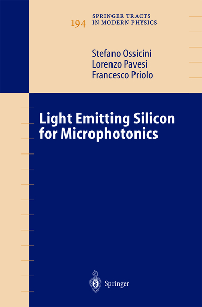 Light Emitting Silicon for Microphotonics   Dodax.ch