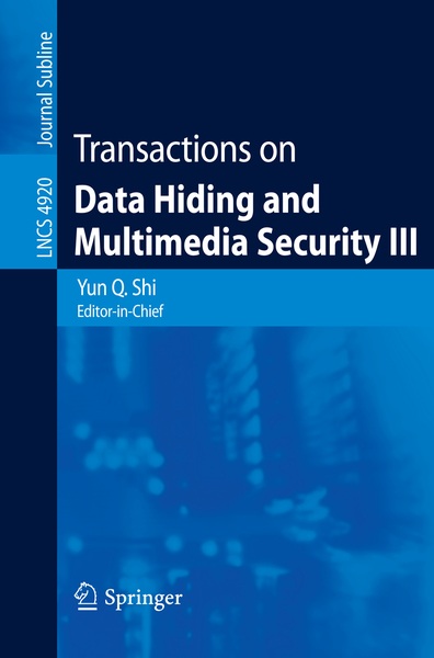 Transactions on Data Hiding and Multimedia Security III | Dodax.pl