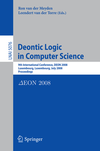 Deontic Logic in Computer Science | Dodax.nl