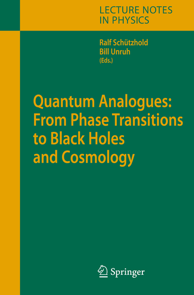 Quantum Analogues: From Phase Transitions to Black Holes and Cosmology | Dodax.pl