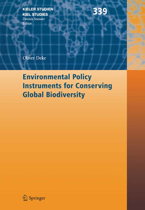 Environmental Policy Instruments for Conserving Global Biodiversity | Dodax.ch