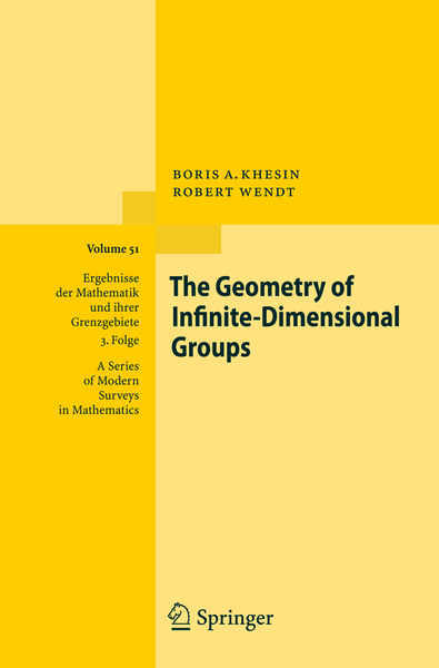 The Geometry of Infinite-Dimensional Groups | Dodax.ch