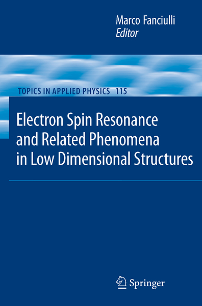 Electron Spin Resonance and Related Phenomena in Low-Dimensional Structures | Dodax.ch