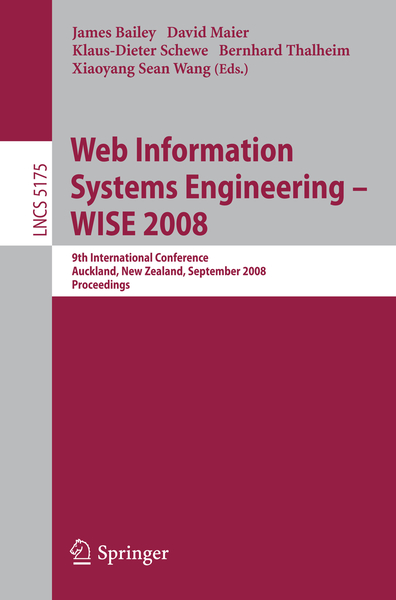 Web Information Systems Engineering - WISE 2008   Dodax.ch