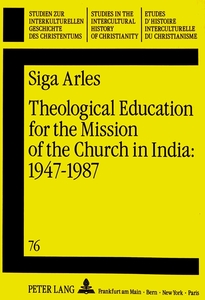 Theological Education for the Mission of the Church in India: 1947 - 1987 | Dodax.at