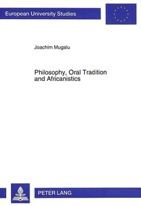 Philosophy, Oral Tradition and Africanistics | Dodax.de