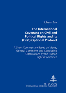 The International Covenant on Civil and Political Rights and its (First) Optional Protocol | Dodax.ch