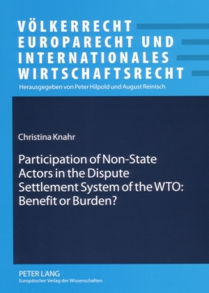 Participation of Non-State Actors in the Dispute Settlement System of the WTO: Benefit or Burden?   Dodax.at