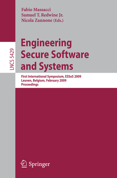 Engineering Secure Software and Systems | Dodax.ch