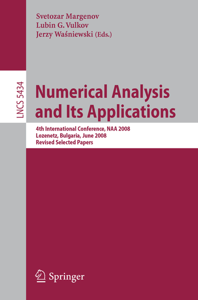 Numerical Analysis and Its Applications | Dodax.ch