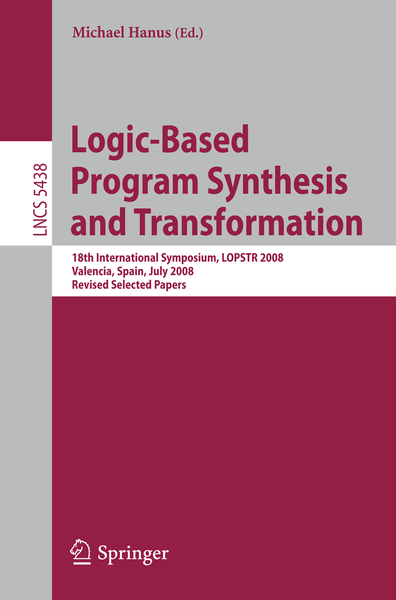 Logic-Based Program Synthesis and Transformation | Dodax.ch
