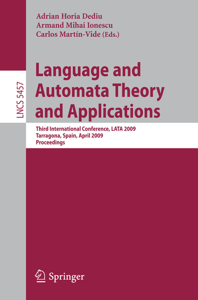 Language and Automata Theory and Applications | Dodax.ch