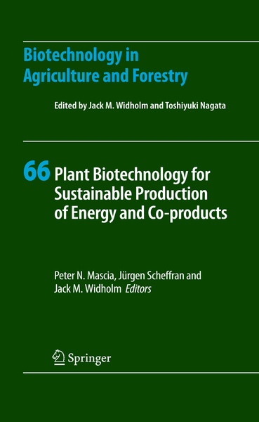 Plant Biotechnology for Sustainable Production of Energy and Co-products | Dodax.co.uk