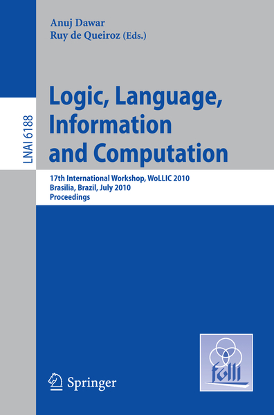 Logic, Language, Information and Computation | Dodax.nl